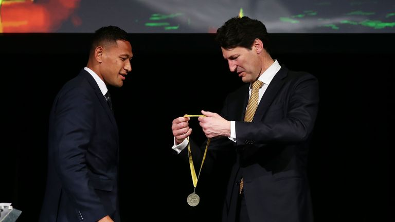 Folau has been voted Australia's best player three times in the last five years