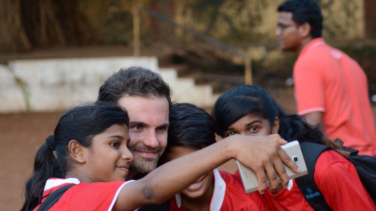 Manchester United midfielder Juan Mata went to Mumbai in the summer