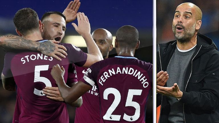 Pep Guardiola's Manchester City got the better of Chelsea in their Premier League clash at Stamford Bridge in September 2017