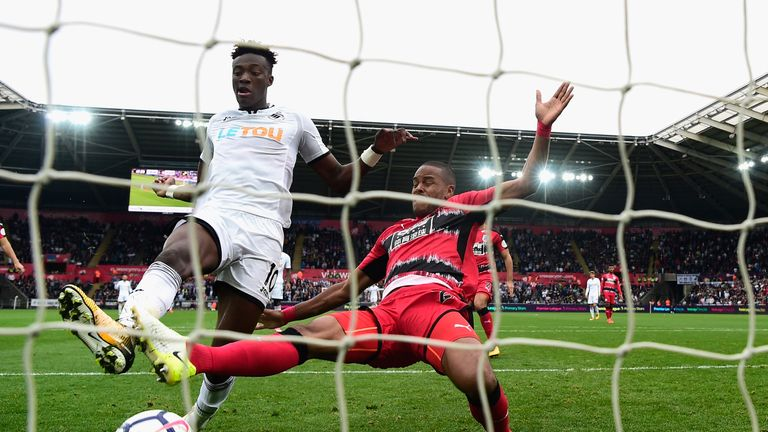 Abraham taps home Swansea's second goal