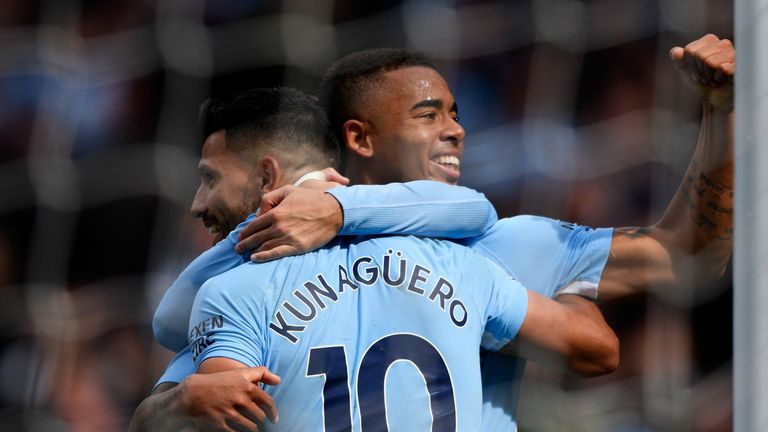 Gabriel Jesus wants to help Sergio Aguero become Manchester City's all-time top goalscorer