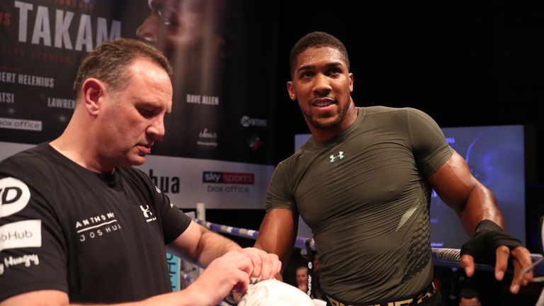 Trainer Rob McCracken will continue to work with Joshua
