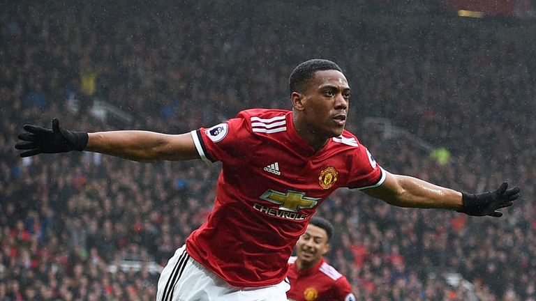 Anthony Martial has praised Jose Mourinho for his return to form