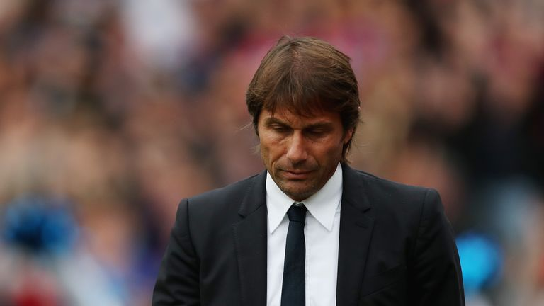 Antonio Conte endured a frustrating afternoon at Selhurst Park