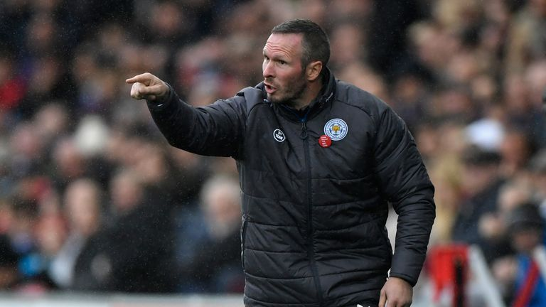 SWANSEA, WALES - OCTOBER 21:  Leicester caretaker Manager Michael Appleton reacts during the Premier League match between Swansea City and Leicester City a