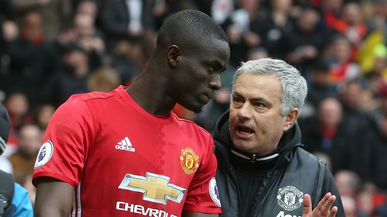 Eric Bailly (left) is injured, Jose Mourinho has confirmed