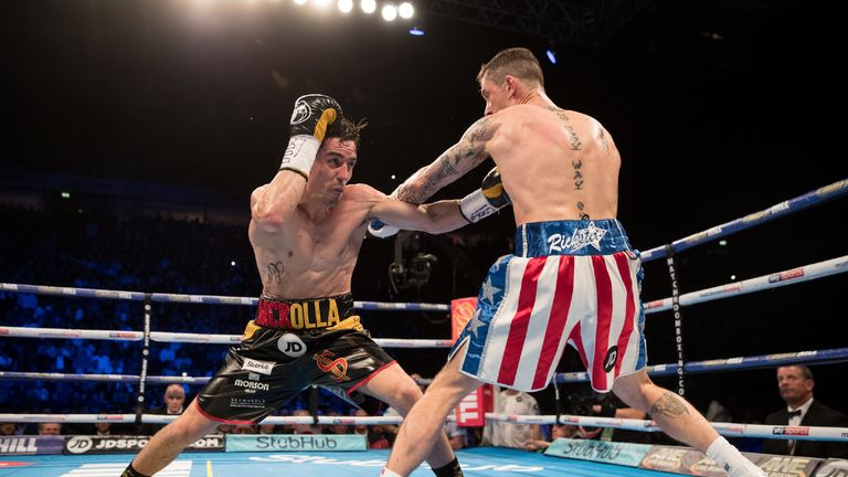 Crolla outworked Burns over 12 rounds last year