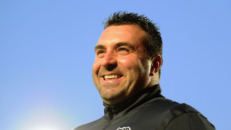 CHELTENHAM, UNITED KINGDOM - OCTOBER 04: David Unsworth, Manager of Everton during the EFL Checkatrade Trophy match between Cheltenham Town and Everton at