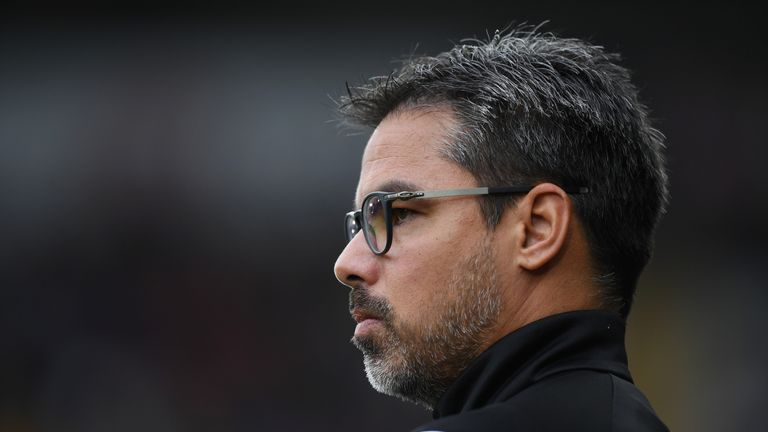 SWANSEA, WALES - OCTOBER 14:  David Wagner, Manager of Huddersfield Town looks on during the Premier League match between Swansea City and Huddersfield Tow