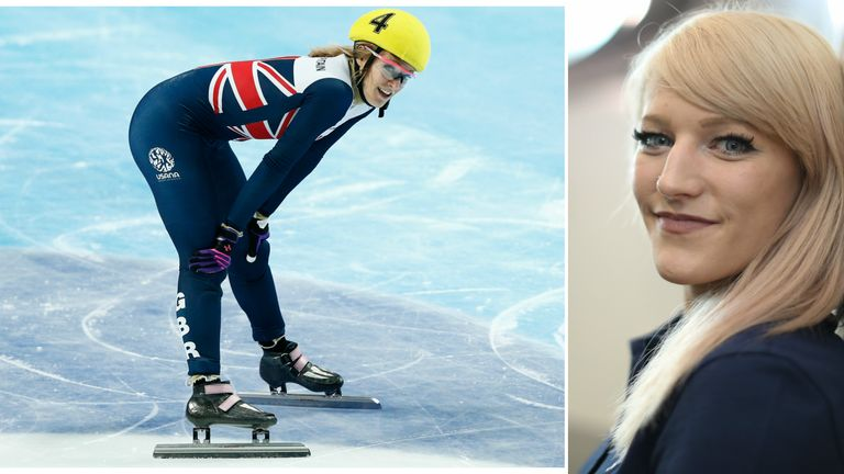 Former Sky Scholar Elise Christie is on the shortlist to be Sportswoman of the Year
