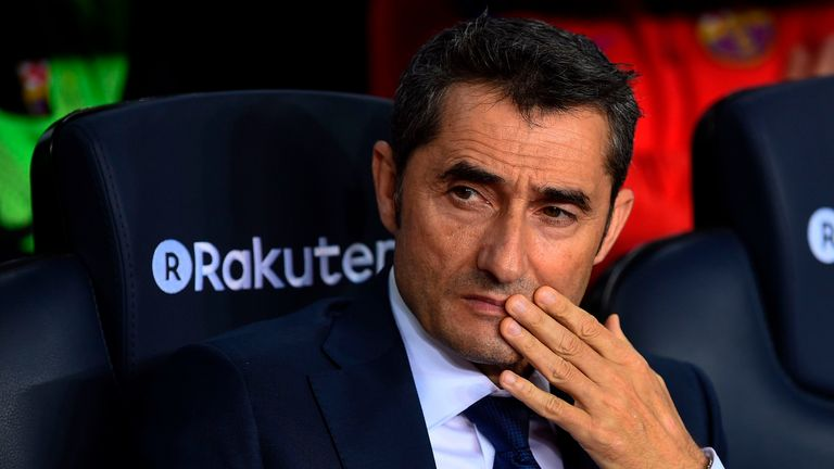 Valverde is undefeated in his 17 La Liga games as Barcelona manager