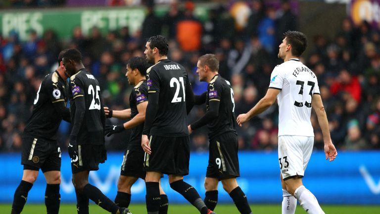 SWANSEA, WALES - OCTOBER 21:  Federico Fernandez of Swansea City looks dejected after scoring an own goal during the Premier League match between Swansea C