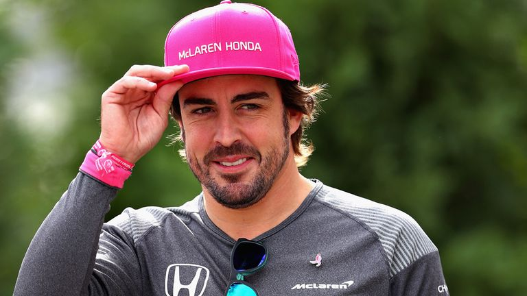 Alonso Is Wearing A Pink Cap At The Us Gp This Weekend In Order To Help