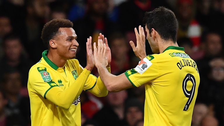 Josh Murphy scored the opening goal for Norwich on Tuesday