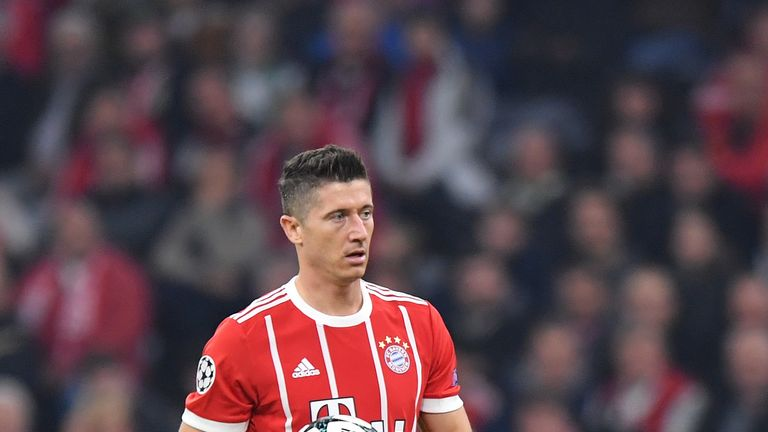 Bayern striker Robert Lewandowski