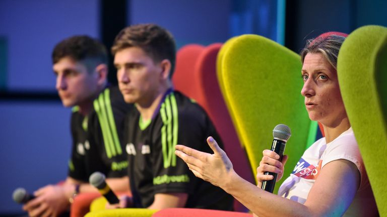 Mayo footballer Cora Staunton during a Q&A session at the #GAAYouth Forum 2017
