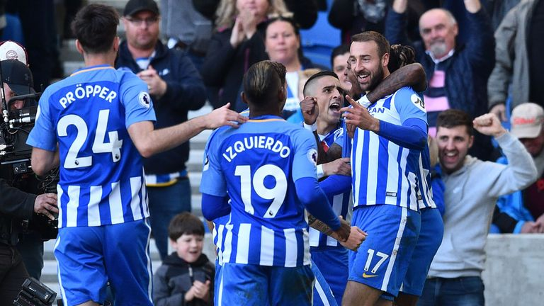 Glenn Murray (right) scored his third goal in two games as Brighton came from behind to earn a point