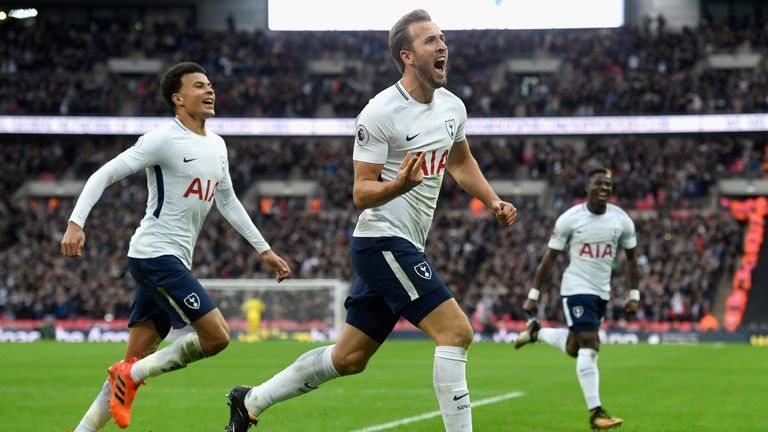 Harry Kane took his Premier League tally to eight goals this season