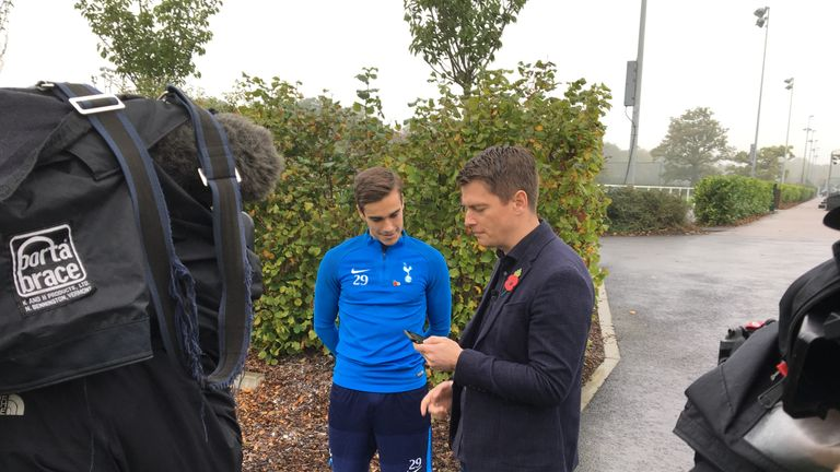 Harry Winks chats to Patrick Davison about his rise at Tottenham