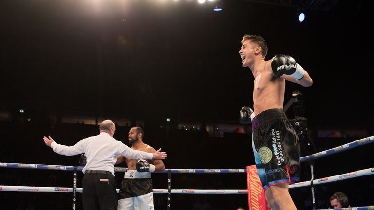 Hosea Burton took little time in earning a stoppage victory