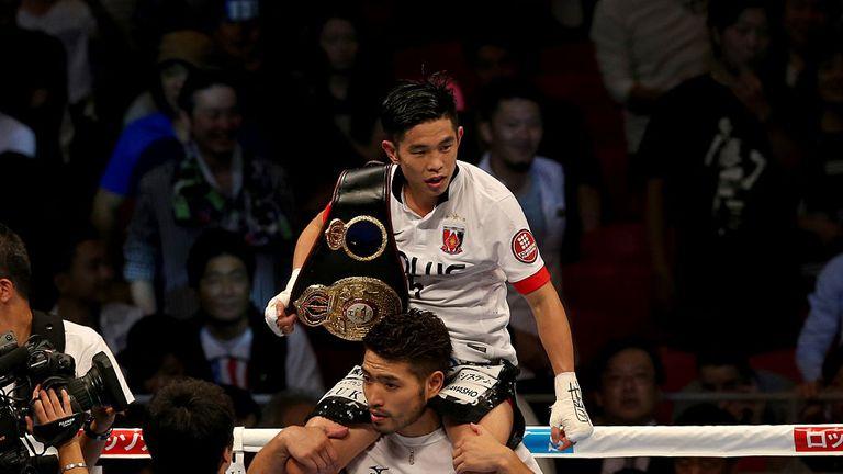 Kazuto Ioka is Ishida's three-weight world title gym-mate