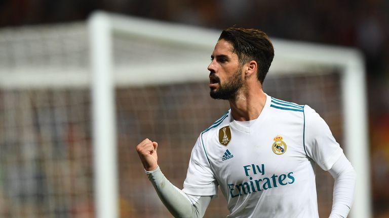 Isco goal celeb, Real Madrid v Espanyol, La Liga