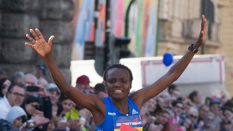 Kenya's Joyciline Jepkosgei also won the International Half Marathon in April