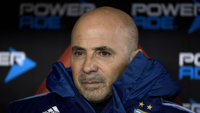 Who will Jorge Sampaoli select as his striking options?
