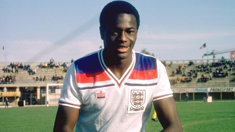 Justin Fashanu of England B before a match against USA B in Manchester, England. England B won the match 1-0. \ 14 October 1980