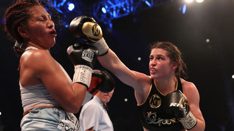 Katie Taylor's last fight on Sky Sports Box Office saw her outclass Anahi Sanchez