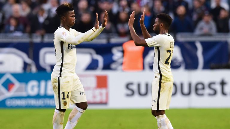 Monaco clinched a 2-0 victory at Bordeaux