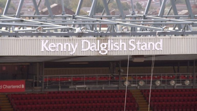 Anfield's Kenny Dalglish Stand will be unveiled ahead of the Man Utd clash