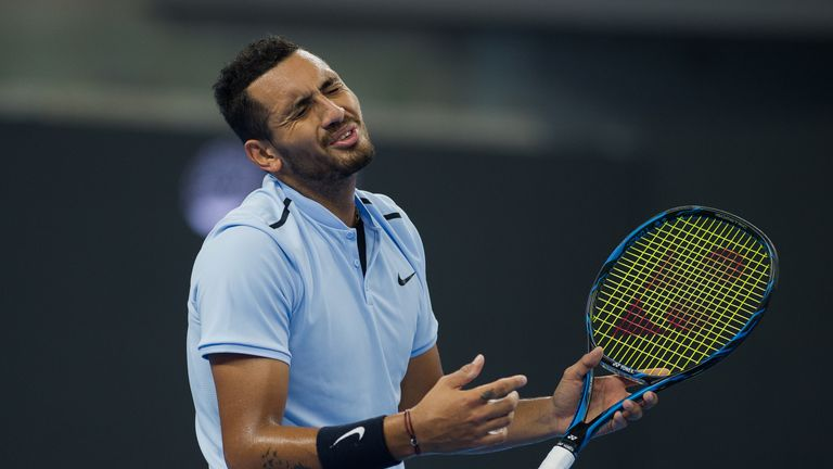 Nick Kyrgios cut a disgruntled figure during the final