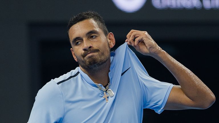 Nick Kyrgios retired from his first round encounter in Shanghai