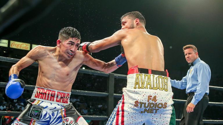 Leo Santa Cruz defended WBA 'super' title with a stoppage win over Chris Avalos