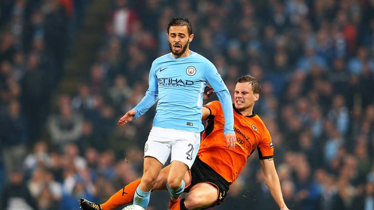 City and Championship club Wolves played with the ball in Tuesday's Carabao Cup tie