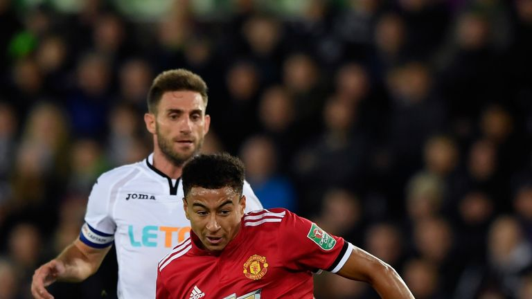 Lingard finished after Marcus Rashford's fine flick split open the Swansea defence