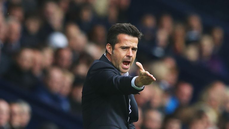 WEST BROMWICH, ENGLAND - SEPTEMBER 30:  Marco Silva, Manager of Watford reacts during the Premier League match between West Bromwich Albion and Watford at