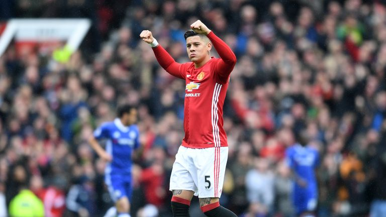 Marcos Rojo has committed himself to Manchester United