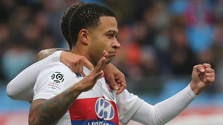 Memphis Depay scored for Lyon on Saturday