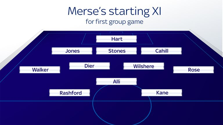 Merse's starting XI for first group game