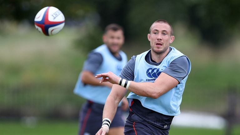 Mike Brown could return to training on Thursday's after a heavy fall against Argentina