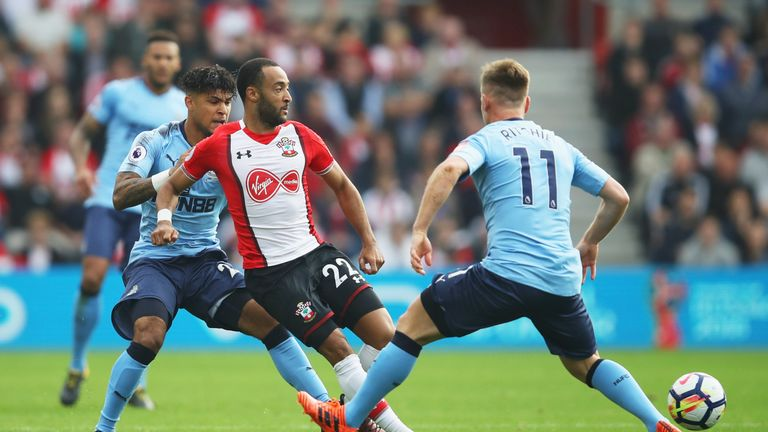 DeAndre Yedlin avoided a card in the second half for a heavy challenge on Nathan Redmond