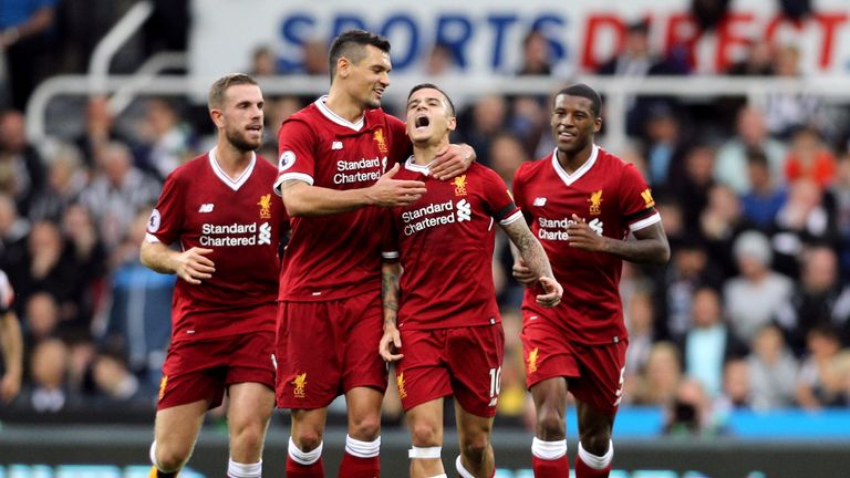 Philippe Coutinho gave Liverpool the lead at St James' Park
