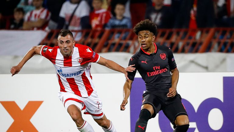 Reiss Nelson impressed with his performance on Thursday