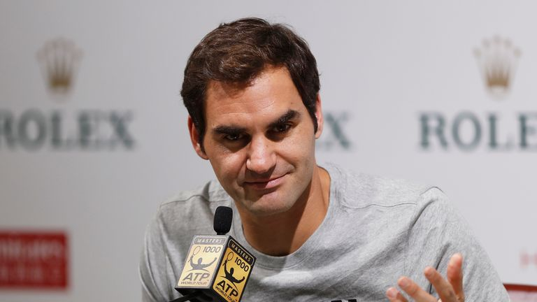 World No 2 Federer arrived early in Shanghai to practice