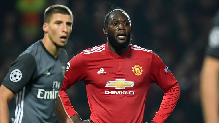 Romelu Lukaku was unable to find the net against Benfica