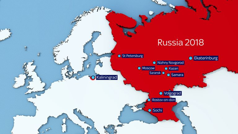 Russia World Cup venues for next summer's tournament