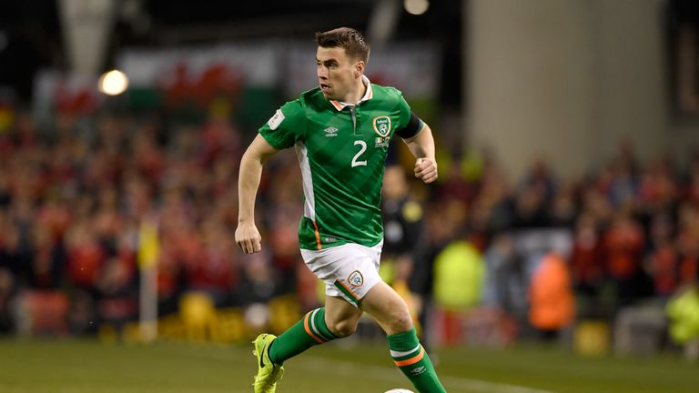 Republic of Ireland player Seamus Coleman in action during the 2018 World Cup Qualifier against Wales in Dublin