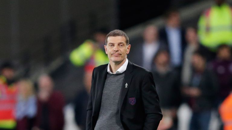 Slaven Bilic was under pressure ahead of the meeting with Tottenham